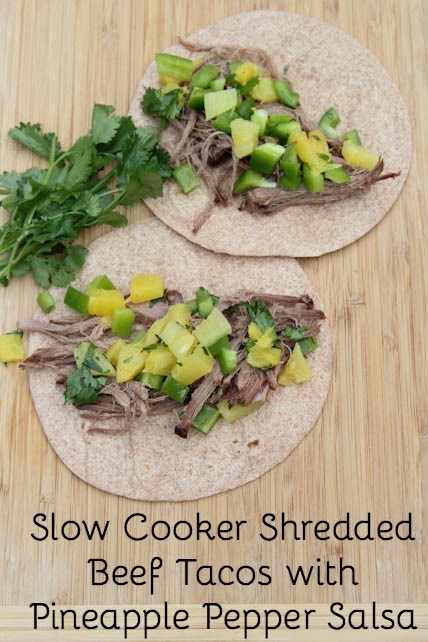 Shredded Beef Tacos with Pineapple-Pepper Salsa
