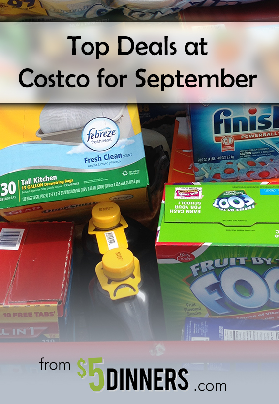 Costco Monthly Coupon Deals for September | 5DollarDinners.comseptember