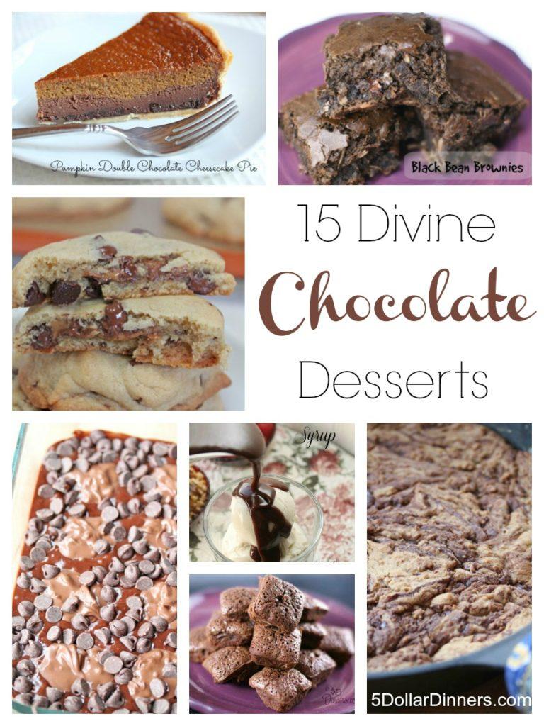 15 Divine Chocolate Recipes   5DollarDinners.com