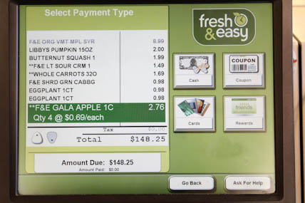 Fresh & Easy Shopping Total