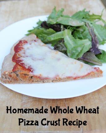Homemade Whole Wheat Pizza Recipe on 5DollarDinners.com
