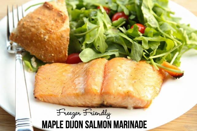 Maple Dijon Salmon Marinade Recipe on 5DollarDinners.com