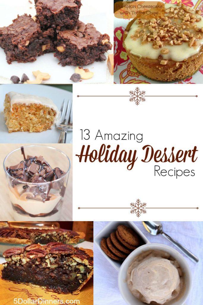 13 Amazing Holiday Dessert Recipes