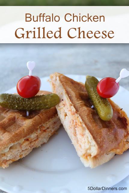 Buffalo Chicken Grilled Cheese | 5DollarDinners.com