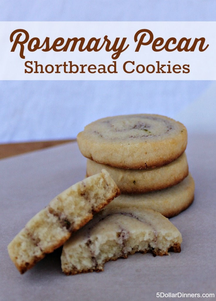 Delicate Rosemary Pecan Shortbread Recipe | 5DollarDinners.com