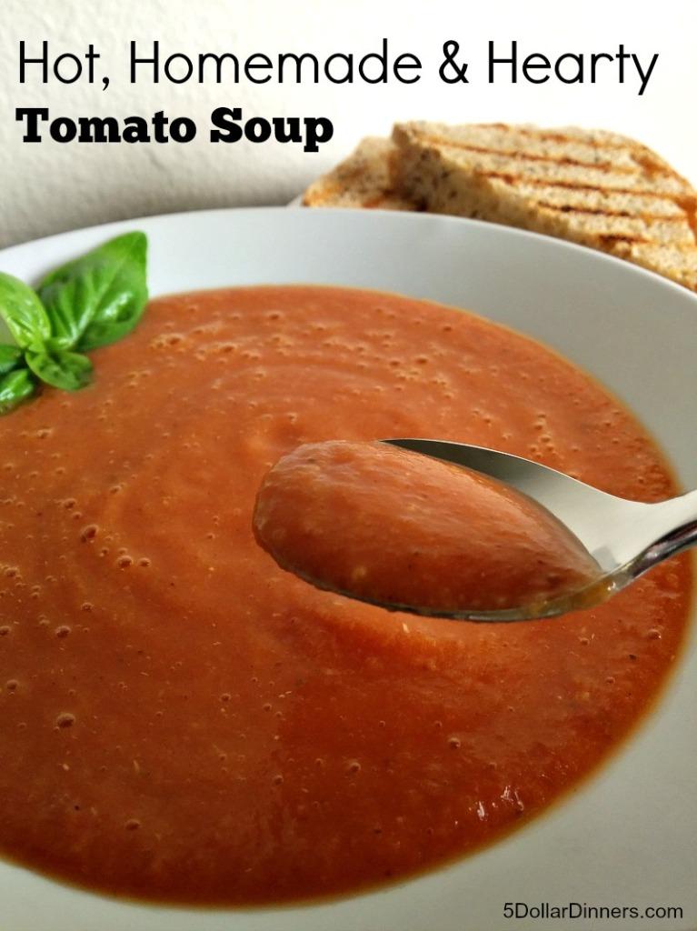 Rice Cooker Hearty Tomato Soup | 5DollarDinners.com