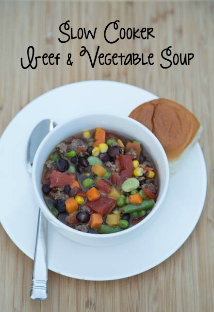 Slow Cooker Beef & Vegetable Soup Recipe