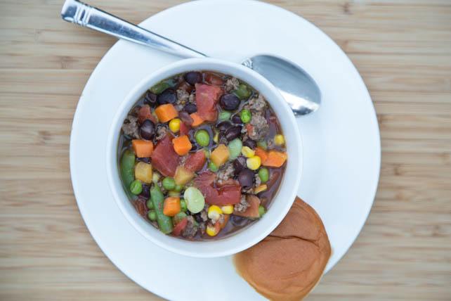 Slow Cooker Beef & Vegetable Soup