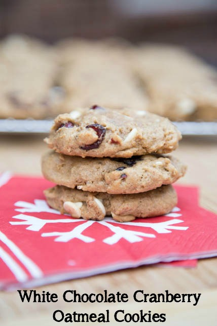 White Chocolate Cranberry Oatmeal Cookies on 5DollarDinners.com