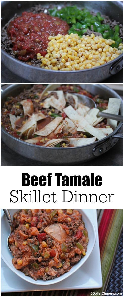 Beef Tamale Skillet Dinner | 5DollarDinners.com