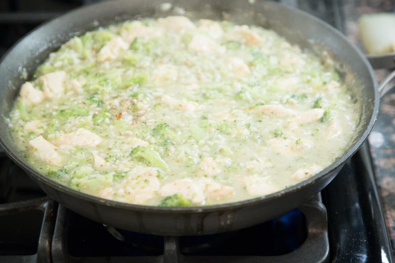 Cheesy Chicken, Broccoli & Rice Skillet Dinner-11