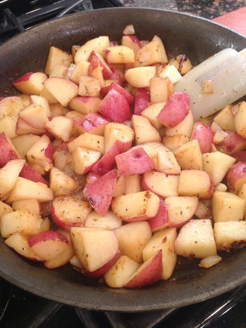 Pork Chop Red Potato Apple Skillet-6