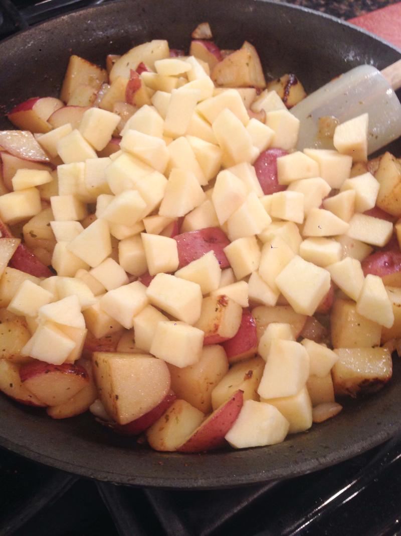Pork Chop Red Potato Apple Skillet-7