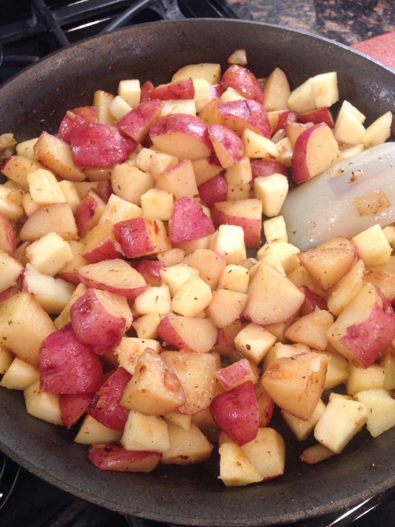 Pork Chop Red Potato Apple Skillet-8
