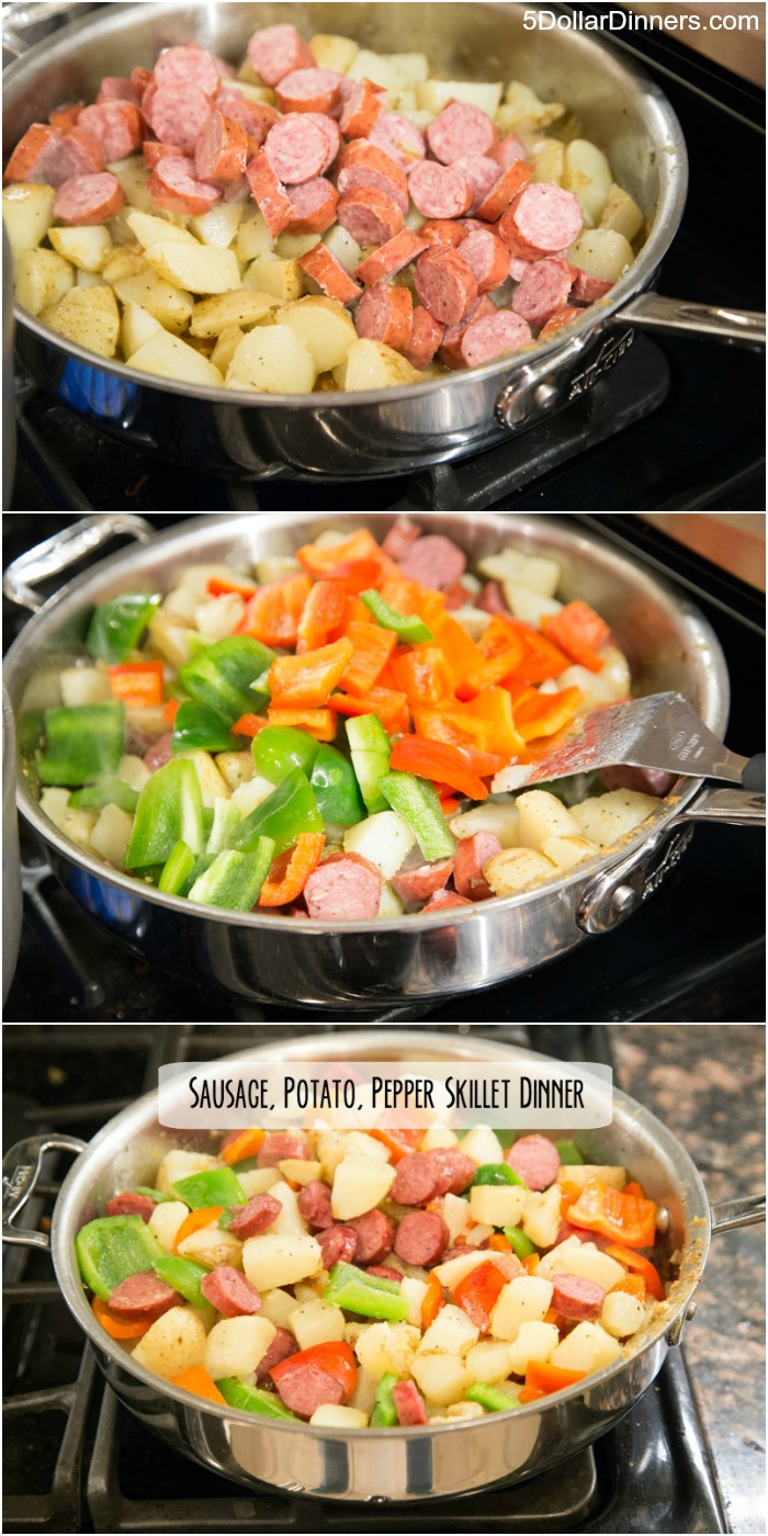 Sausage, Potato, and Pepper Skillet Dinner