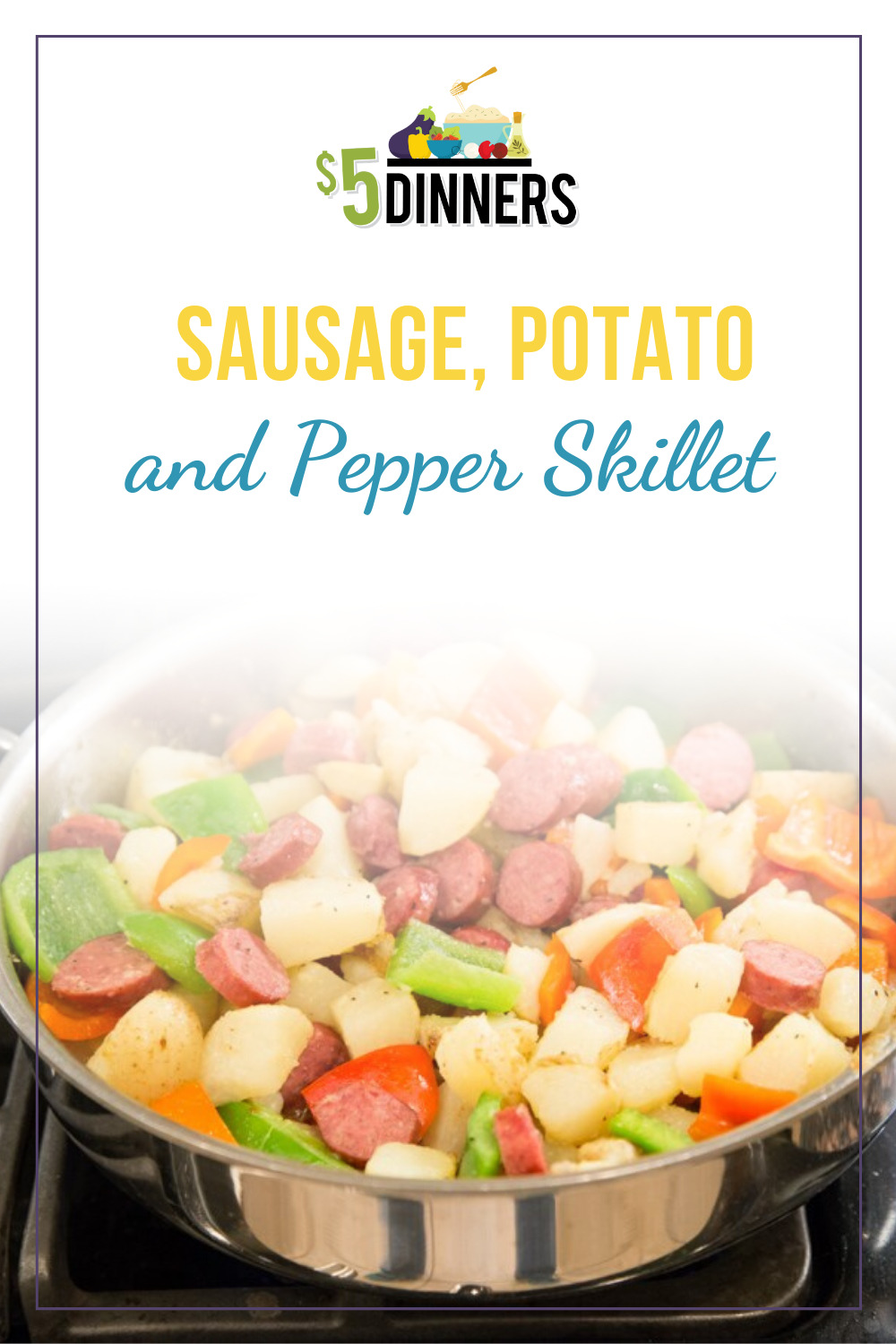sausage, potato, and pepper skillet