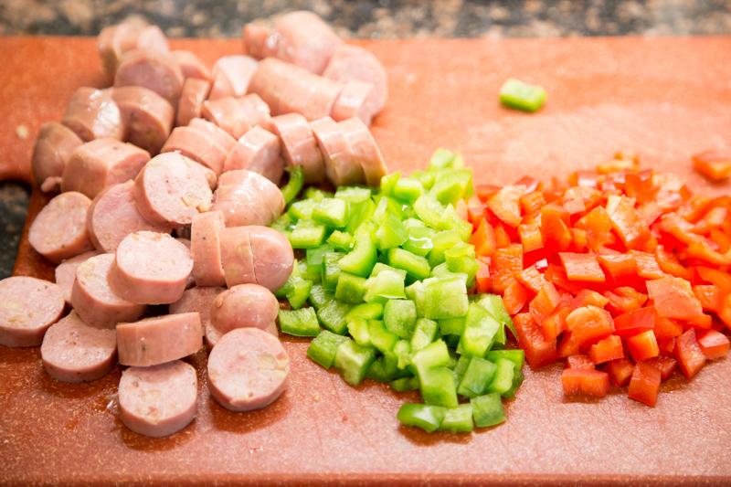 Sweet Potato Chicken Sausage Hash
