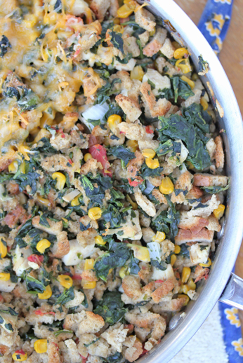 Chicken and Stuffing Skillet Dinner ~ part of our 31 Days of Skillet Dinner Recipes   5DollarDinners.com