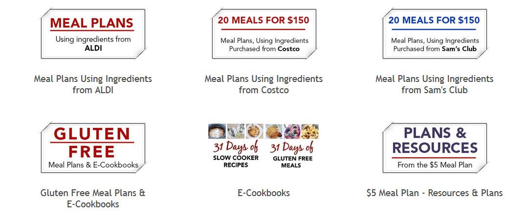 5DollarDinner Meal Plans Ebooks Printables