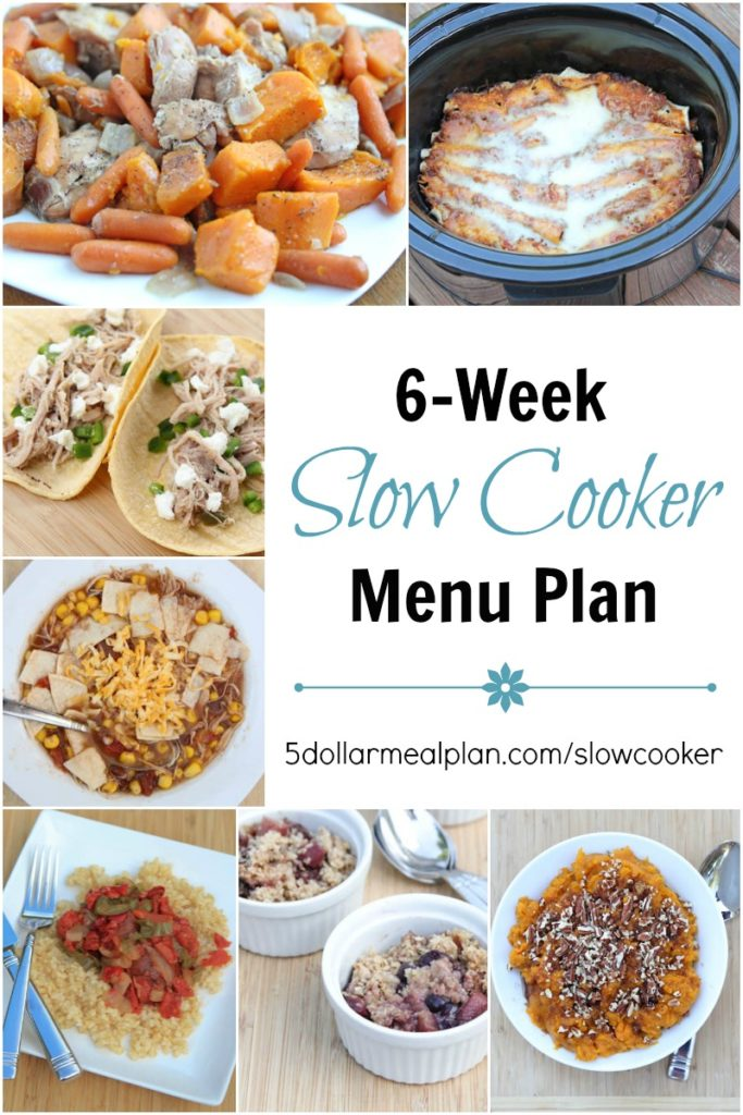 Tired of Planning & Making Dinner Every Night? I Can Help with the New 6-Week Slow Cooker Menu Plan!!!
