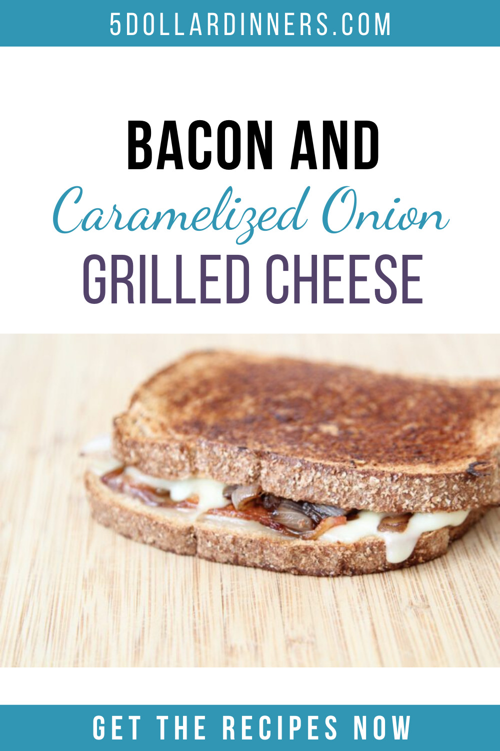 bacon caramelized onion grilled cheese