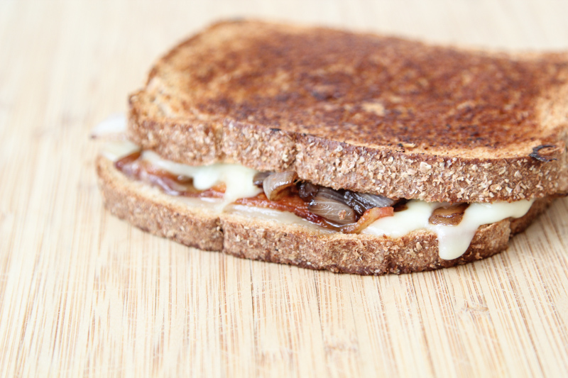 Bacon, Caramelized Onion Grilled Cheese