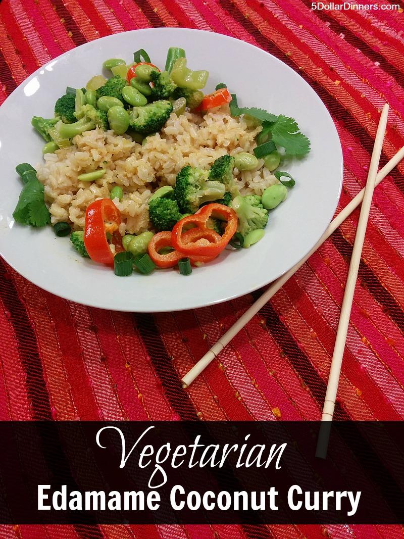 Vegetarian Edamame Coconut Curry   5DollarDinners.com