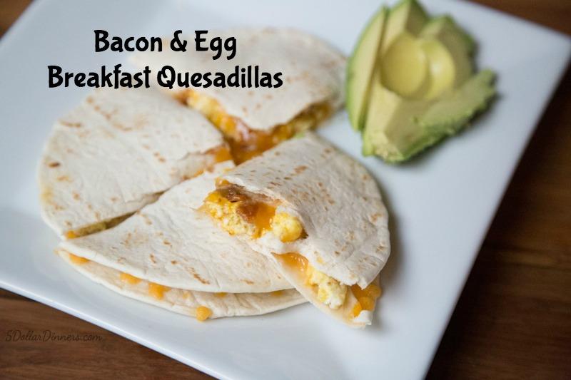 Breakfast Quesadillas Recipe | 5DollarDinners.com