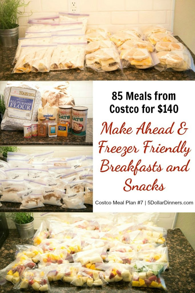 85 Freezer Friendly & Make-Ahead Breakfast & Snacks for $140 - Reclaim Your Frantic Weekday Mornings!