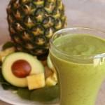 Spinach Pineapple Avocado Smoothie | 5DollarDinners.com