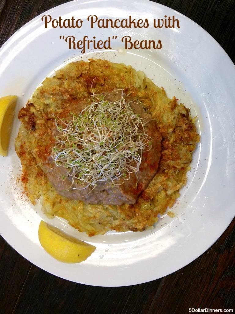 Potato Pancakes with Refried Beans