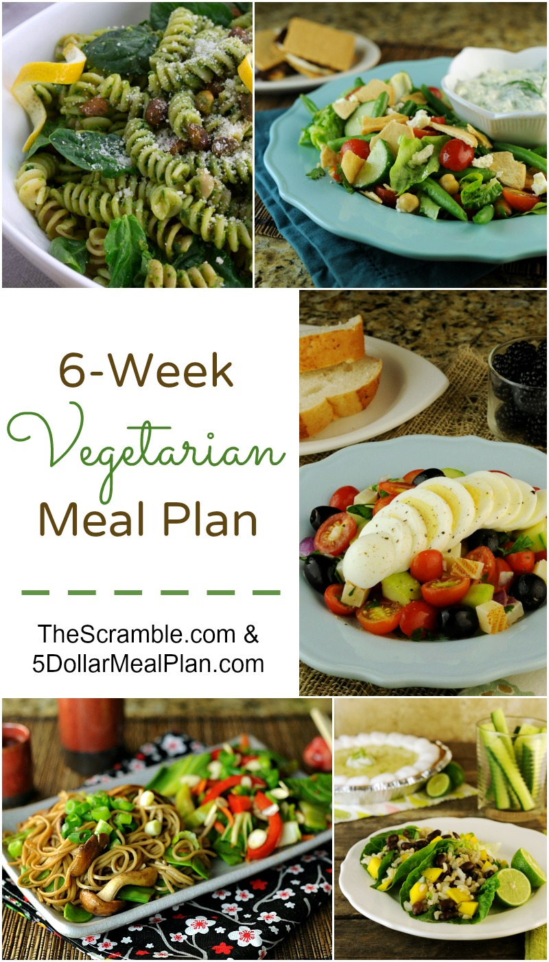 6 Week Vegetarian Meal Plan