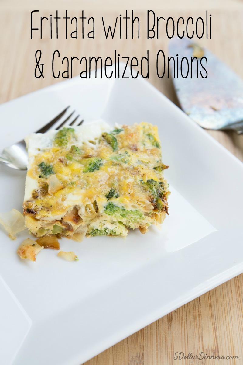 Broccoli Carmelized Onion Frittata Recipe   5DollarDinners.com