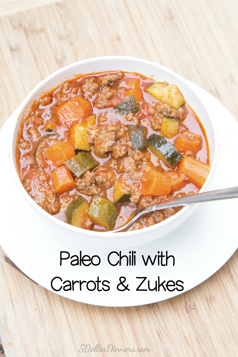 Paleo Chili with Carrots and Zucchini Recipe | 5DollarDinners.com