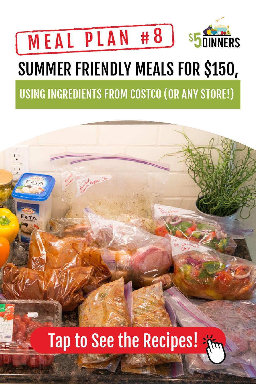 Summer Friendly Freezer Meals Plan