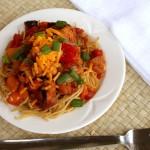 Barbecue Spaghetti with Smoked Chicken   5DollarDinners.com