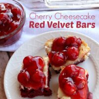 Cherry Cheesecake Red Velvet Bars | 5DollarDinners.com