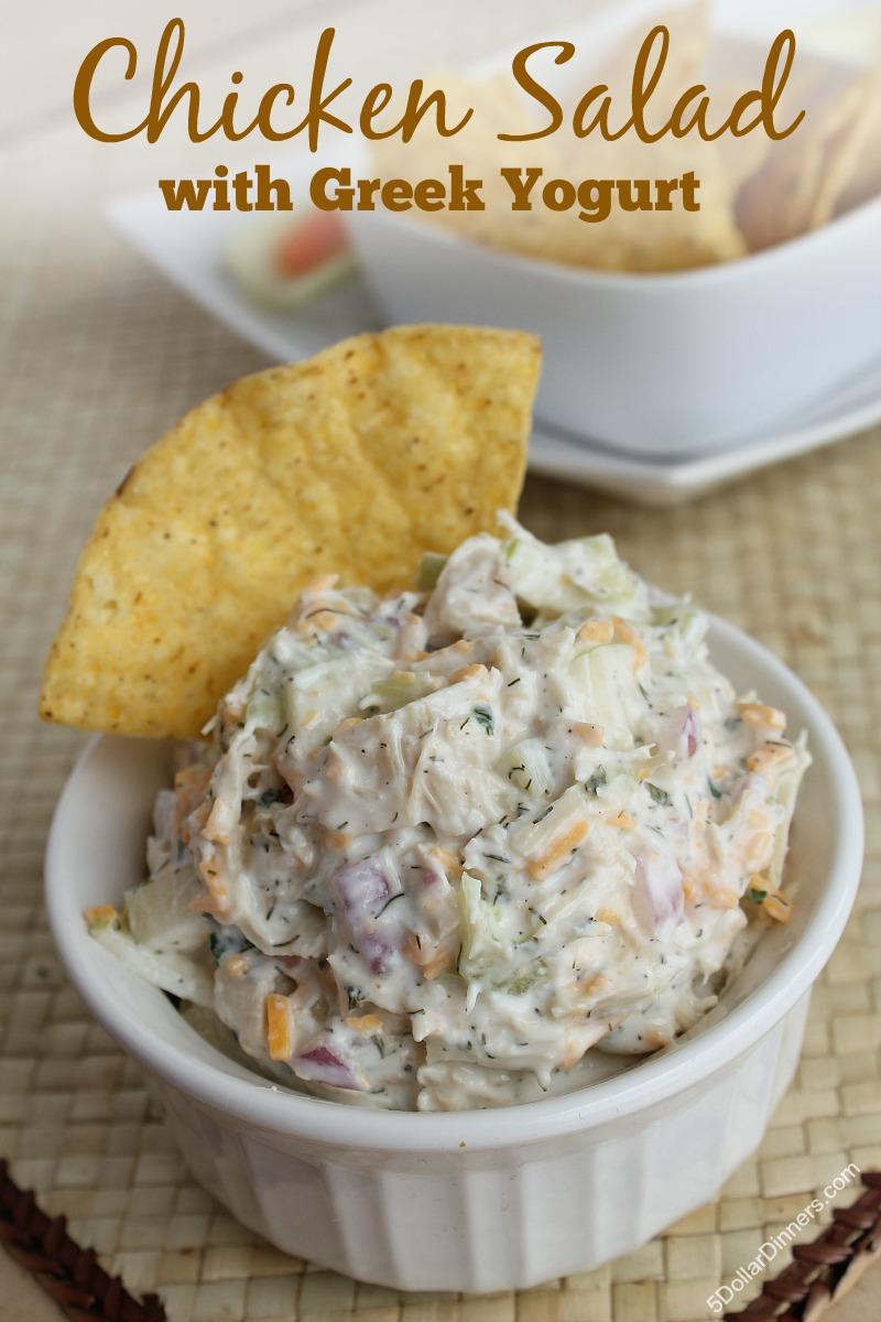 Chicken Salad with Greek Yogurt   5DollarDinners.com
