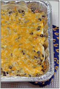 Chicken and Bean Enchilada Casserole | 5DollarDinners.com