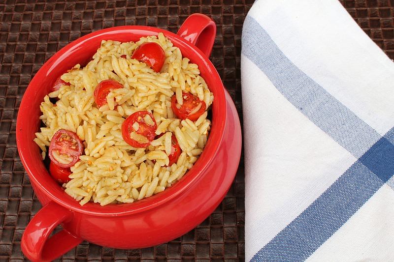 Pesto Orzo with Tomatoes   5DollarDinners.com
