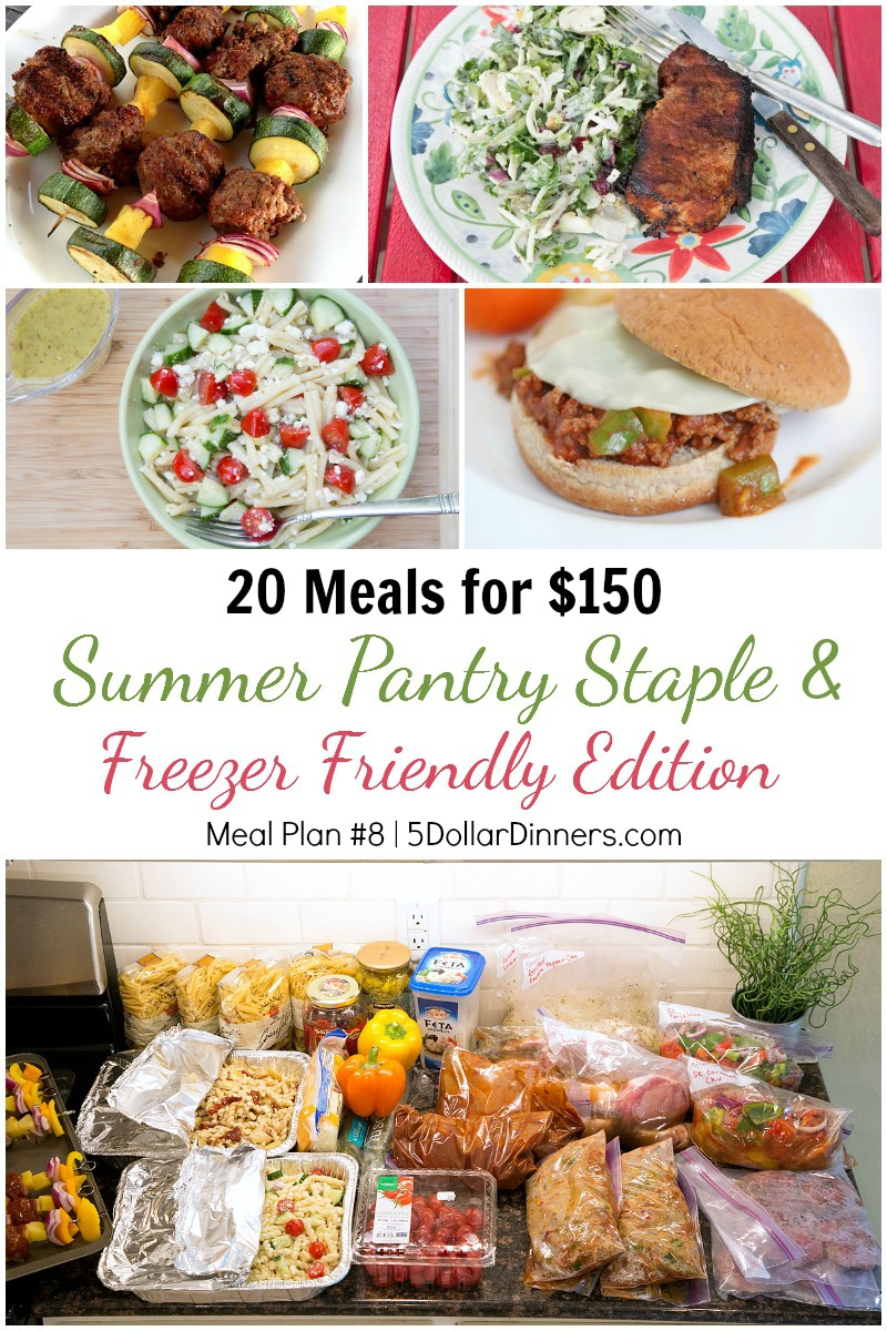 20 Meals for $150 Meal Plan #8 from 5DollarDinners.com