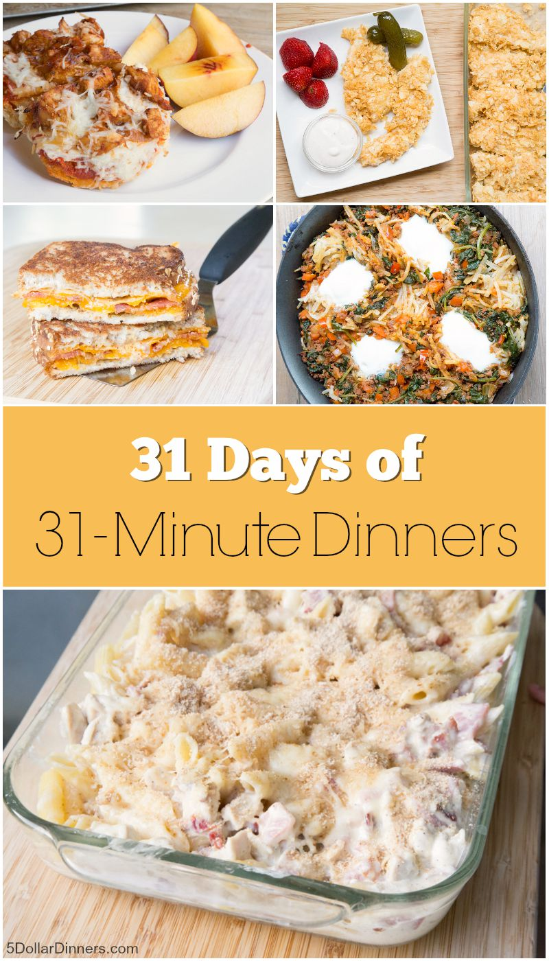31 Days of 31 Minute Dinners from 5DollarDinners.com