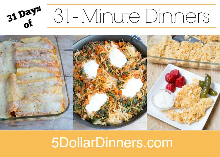 31 Days of 31 Minute Dinners square