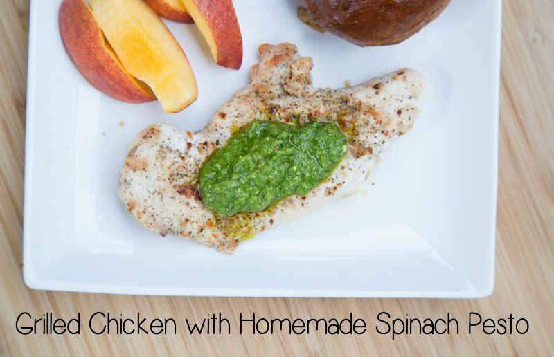 Grilled Chicken with Homemade Spinach Pesto