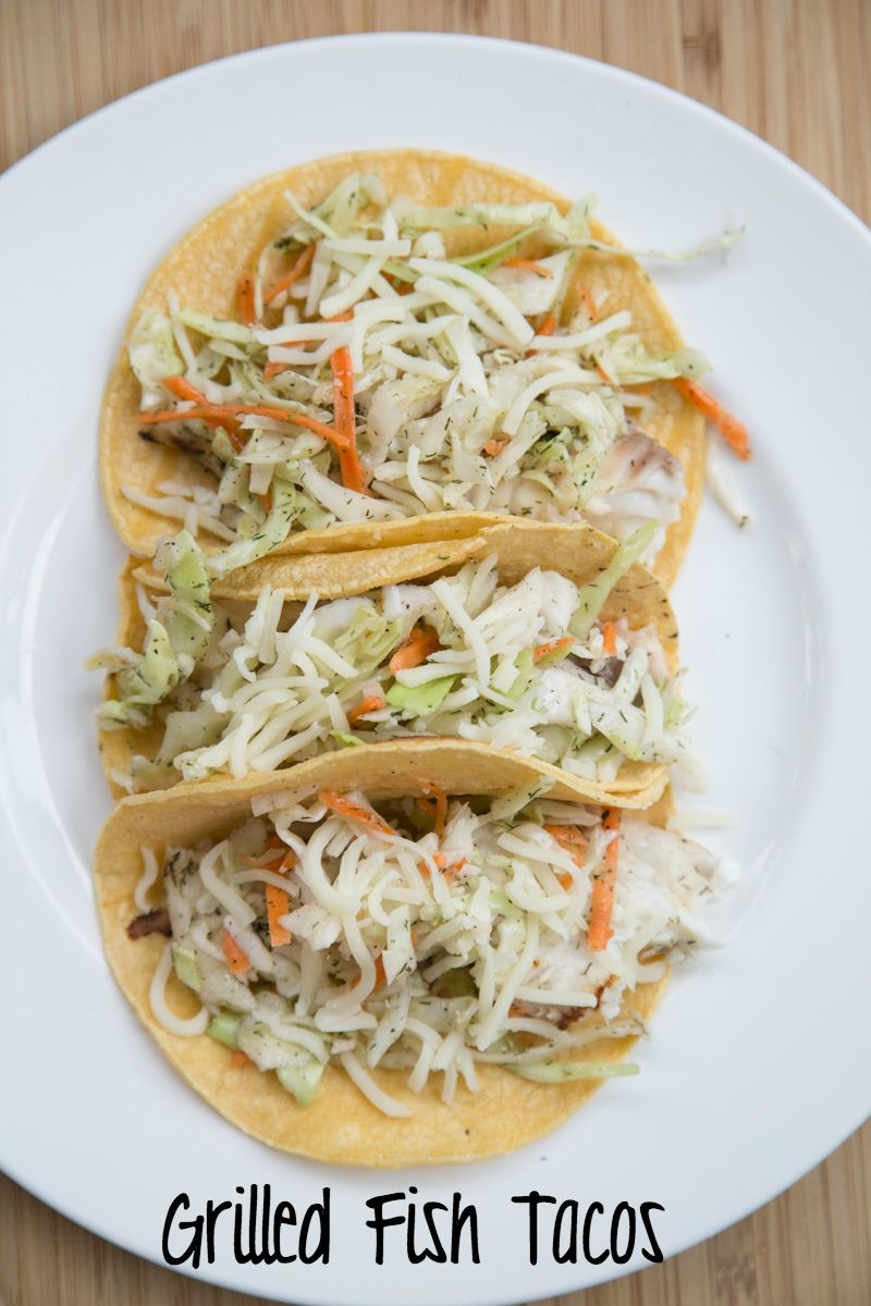 Grilled Fish Tacos with Slaw Recipe