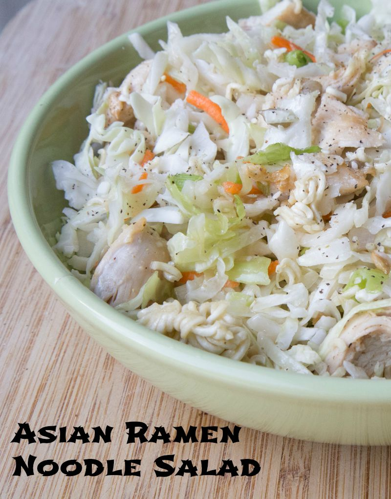 Asian Ramen Noodle Salad on 5DollarDinners.com