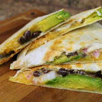 Avocado and Black Bean Quesadillas from 5DollarDinners.com