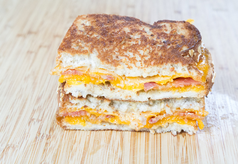 Bacon Honey Mustared Grilled Cheese 2