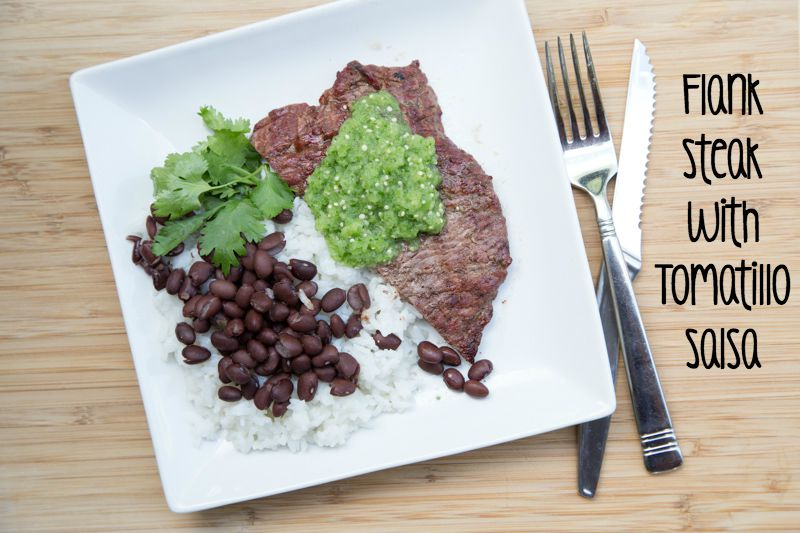 Grilled Flank Steak with Tomatillo Salsa Recipe