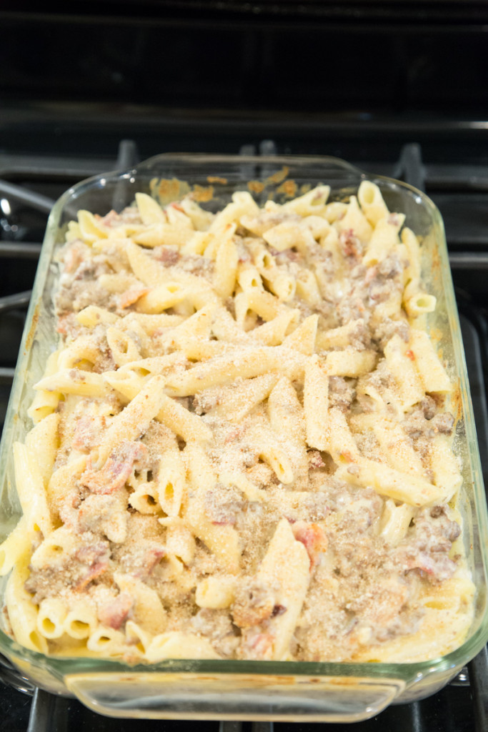 Macaroni & Cheese with Beef and Bacon Recipe